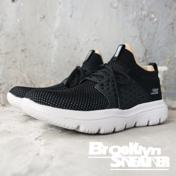 Skechers  Go Walk Evolution Ultra Turbo 黑灰網布 襪套 男 (布魯克林) 54726BKGY