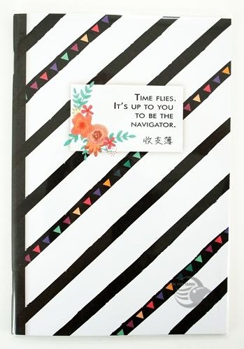 【金玉堂文具】黑白條紋 記帳本 存摺收支簿 CASH BOOK