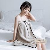 浴巾 浴裙菠蘿格可穿可裹成人日本個性浴巾女學生家用柔軟吸水速干裹巾-三山一舍