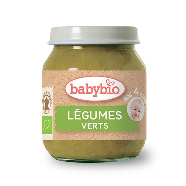 BABYBIO 有機碧綠蔬菜泥/果泥130ml-法國原裝進口4個月以上嬰幼兒專屬副食品