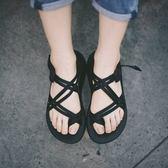 [Chaco] (女) 越野舒壓運動涼鞋 (雙織夾腳) 黑 (CH-ZLW04-H405)