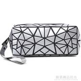 化妝包小號便攜時尚簡約專櫃化妝袋韓國不規則幾何包