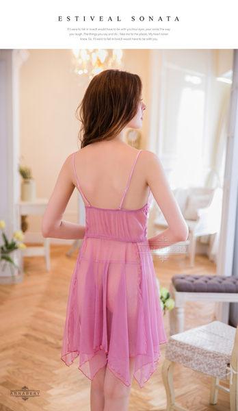 (特價) 尺碼 Annabery紫藕不規則裙襬二件式睡衣 (OS小舖)