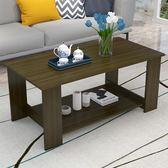 茶几桌 茶幾間約客廳小護型迷妳雙層餐桌兩用間易長方形木質矮桌子【美物居家館】