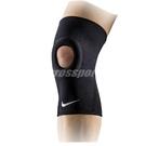 Nike 護膝套 Pro Open-Patella Knee Sleeve AP 男款 開洞 膝蓋護套 護具 籃球 跑步 黑 白【ACS】 NMS55-010