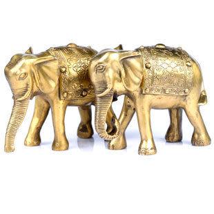 純銅大象擺件吉祥招財