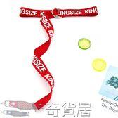 新款韓國bf風字母印花帆布腰帶男女學生通用皮帶雙環腰帶潮流時尚【奇貨居】