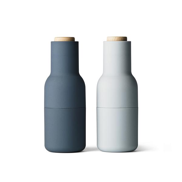 丹麥 Menu Bottle Grinder 2-pack 清新系列 椒鹽 研磨罐 兩件組(藍色組合)
