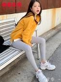韓都衣舍秋裝新款女裝韓版彈性修身顯瘦外穿打底褲NW12339棽 交換禮物