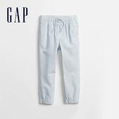 Gap男幼童 純棉裝飾抽繩休閒褲 746792-淺藍條紋