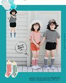 英倫格子全棉兒童中筒襪/兒童襪子