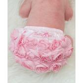 RuffleButts PP包屁短褲 粉色玫瑰 | 女寶寶褲子(嬰幼兒/兒童/小孩)