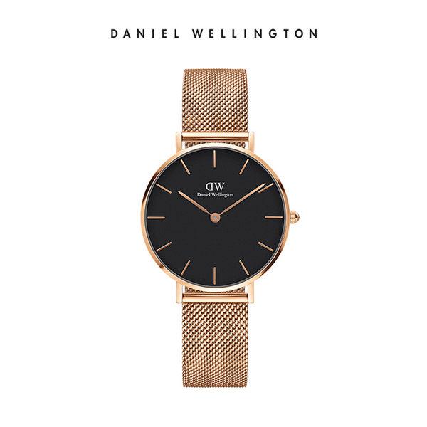 DW手錶Classic Petite 香檳金米蘭金屬編織