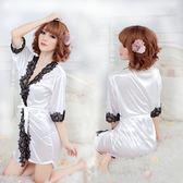 女衣性感低胸白色浴袍日系浴衣和服女衣情趣內睡衣禮物