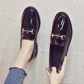 牛津鞋英倫風小皮鞋女 新款春季韓版百搭學生女鞋平底黑色豆豆鞋夏季(快速出貨)