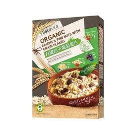 【米森】有機松子葡萄麥片450g 一盒 即沖即食
