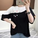 夏季韓版短袖t恤女學生寬鬆上衣時尚百搭半袖原宿風體恤女打【全館免運】