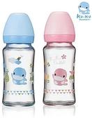 ku.ku酷咕鴨 超矽晶寬口玻璃奶瓶240ml【德芳保健藥妝】顏色隨機出貨