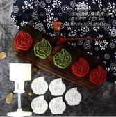 手壓式綠豆糕模冰皮廣式月餅模具家用不黏50g月餅糕點模立體套裝 〖korea時尚記〗