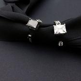 戒指 925純銀鑲鑽-大方閃耀生日母親節禮物女開口戒2色73ic32【時尚巴黎】