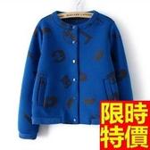 短款棒球外套-歐美加厚保暖女太空棉外套2色65ab14【巴黎精品】