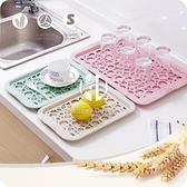 創意雙層塑料水杯瀝水盤家用長方形水果盤客廳水杯杯子托盤茶盤【Kacey Devlin】
