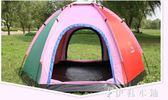 帳篷戶外3-4人旅游野外露營釣魚野營加大家庭套裝   伊鞋本鋪