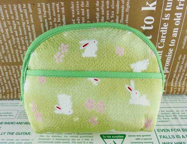 【震撼精品百貨】招財貓_招き猫~面紙化妝包-綠兔子