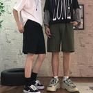 夏季韓版ins潮流褲子純色百搭五分褲寬鬆直筒褲運動休閒短褲男女