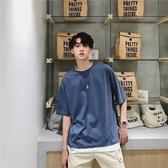 夏季潮牌假兩件短袖t恤男生韓版寬鬆潮流丅恤帥氣網紅半袖衣服 韓國時尚週