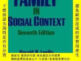 二手書博民逛書店The罕見Family In Social Context-社會背景下的家庭Y436638 Gerald R.