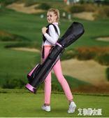 高爾夫球包 帶支架 男女款槍包 下場打球推薦 輕便版 ZM5295【艾菲爾女王】TW