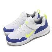 Nike 童鞋 WearAllDay PS 白 藍 童鞋 中童鞋 魔鬼氈 小朋友 運動鞋 基本款 【ACS】 CJ3817-104