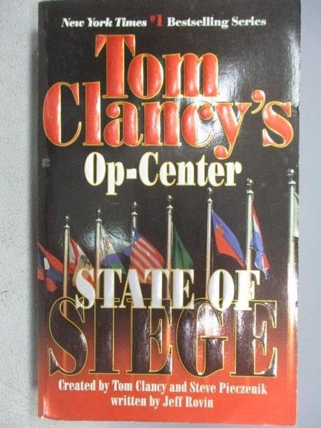 【書寶二手書T3/原文小說_C1J】Stare of Siege_Tom Clancy s Op-Center