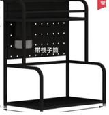 黑色不銹鋼廚房置物架落地多層收納家用省空間刀架調味品調料架子第七公社