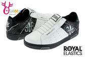 Royal Elastics 男休閒鞋 Icon系列 免綁帶 運動鞋G9237#白黑◆OSOME奧森童鞋/小朋友