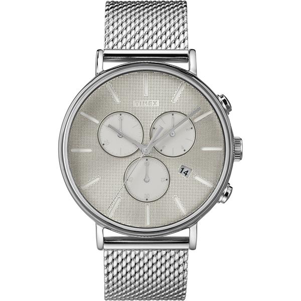 【TIMEX】天美時 Fairfield Chrono系列 時尚三眼計時手錶(銀 TXTW2R97900)