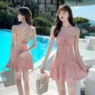 連身泳裝 泳衣女性感遮肚顯瘦2020年新款連體裙式泳裝仙女范韓國ins游泳衣