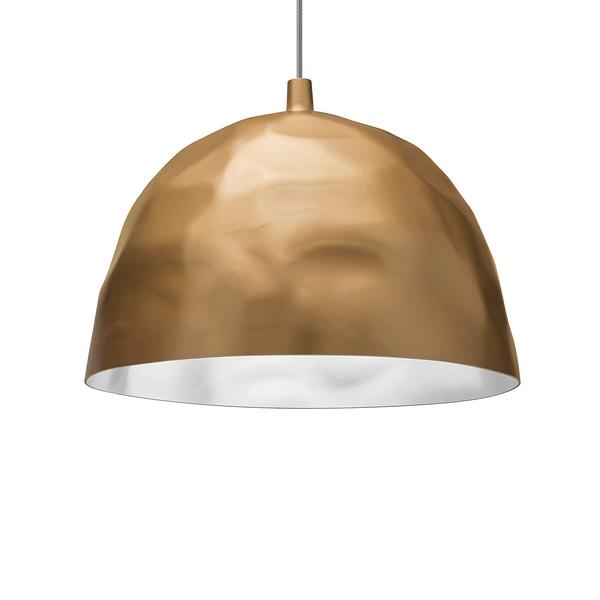 Foscarini Bump Suspension Lamp 50cm 冰鑽造型 色彩 吊燈(不透明金色 Oro - 加長吊線長 400cm)
