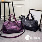 健身包-旅行包女手提大容量旅游包單肩韓版短途行李袋潮輕便防水健身包男-奇幻樂園