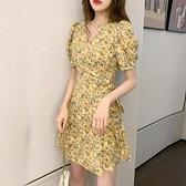 碎花裙 小雛菊碎花洋裝女裝復古法式顯瘦a字小個子夏裝2020新款裙子潮