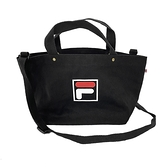 Fila Bag [BMU-9009-BK] 帆布包 側背包 肩背 斜背 手提 輕量 可調式背帶 黑