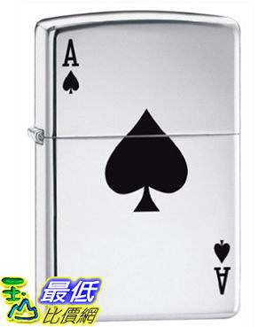 [美國直購 ShopUSA] Zippo Lucky Ace High Polish Chrome Pocket Lighter 24011 $1049