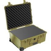 美國 PELICAN 1560 派力肯 塘鵝 輪座氣密箱 含泡棉 綠色 公司貨