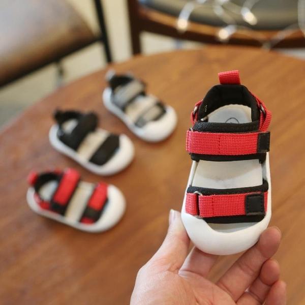 學步鞋 夏季新款男女童0-1-3歲包頭學步鞋 兒童防滑軟底學步鞋防撞涼鞋潮【快速出貨】