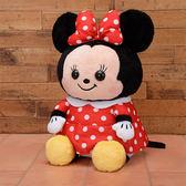 日本進口 米妮 米老鼠 Disney迪士尼 SEGA 日版 景品  坐姿 絨毛娃娃