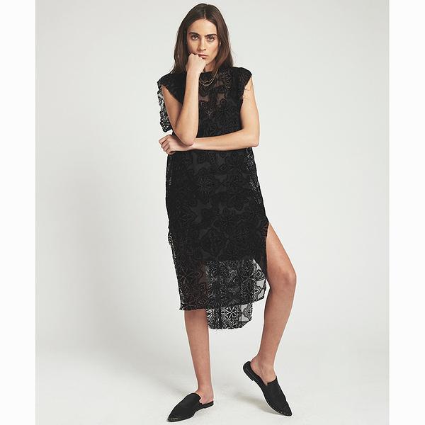 OneTeaspoon 洋裝 DEVORE 2 PIECE SLIP DRESS-女(黑)