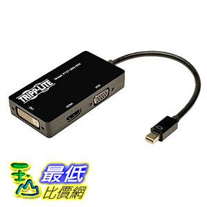 [美國直購] Tripp Lite Keyspan Mini Displayport to VGA/DVI/HDMI, All-in-One Cable Adapter, 適配器