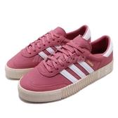 【五折特賣】adidas 休閒鞋 Sambarose W 紅 白 金標 鬆糕鞋 厚底增高鞋 女鞋【PUMP306】 B28161