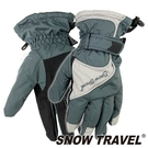 【SNOW TRAVEL 雪之旅】英國PORELLE防水全透氣薄手套 『 灰』AR-51 防風手套.保暖手套